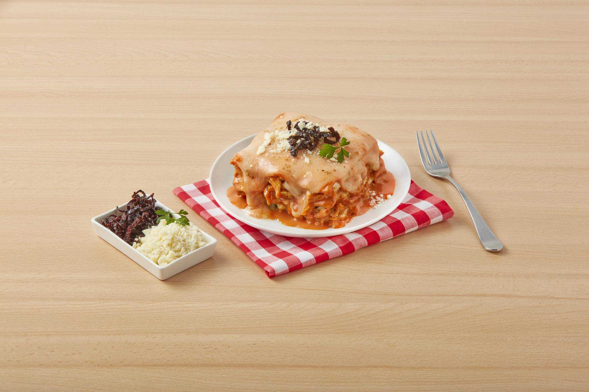 Creamy Red Lasagna