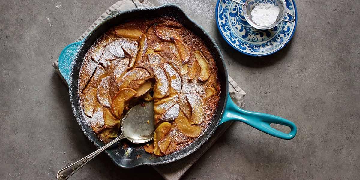 Receta fácil y rápida de torta de manzana al sartén