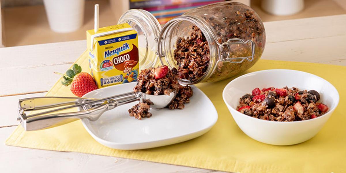 Granola De Avena Y Chocolate