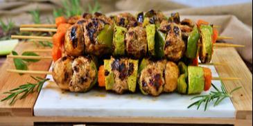 Шишчета от кюфтенца и зеленчуци