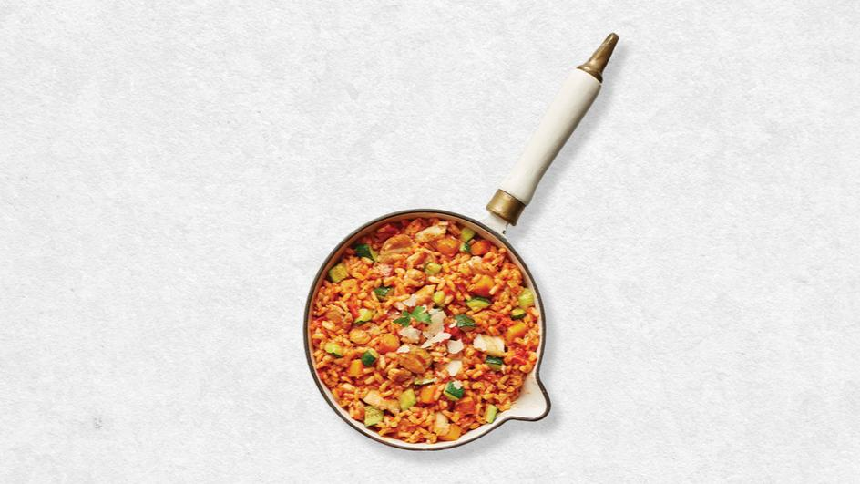 Baked Chicken & Tomato Risotto