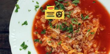 Zupa gołąbkowa z kapustą włoską i mięsem mielonym
