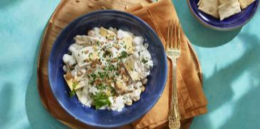 Fatteh (Gerecht van yoghurt en kikkererwten)