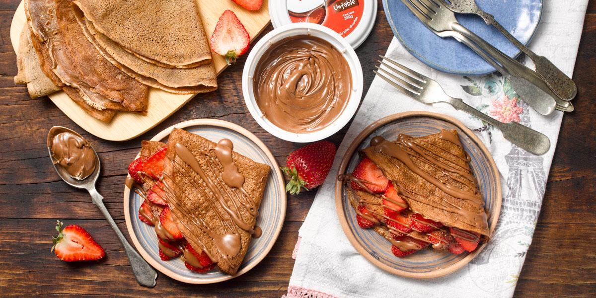Panqueque doble Chocolate y Frutas