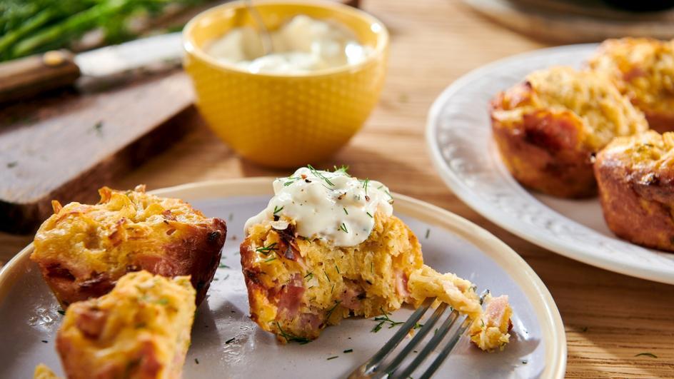 Ziemniaczane muffiny z rozmarynem