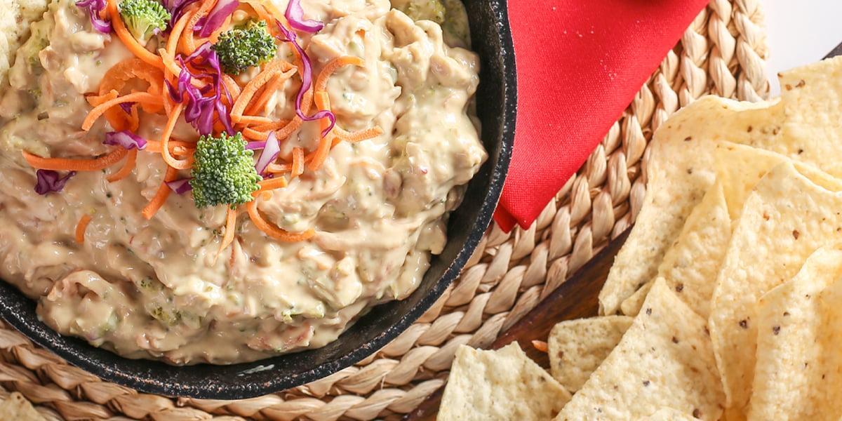 Dip de queso y vegetales