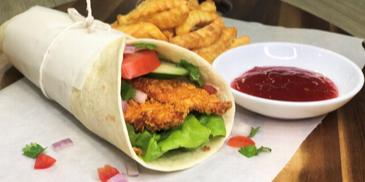Curry Chicken Crunchy Wrap