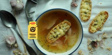 Zupa czosnkowa na rosole
