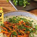 """Hummus z pieczonymi marchewkami w paście """"Kurczak z papryką w sosie paprykowym"""""""