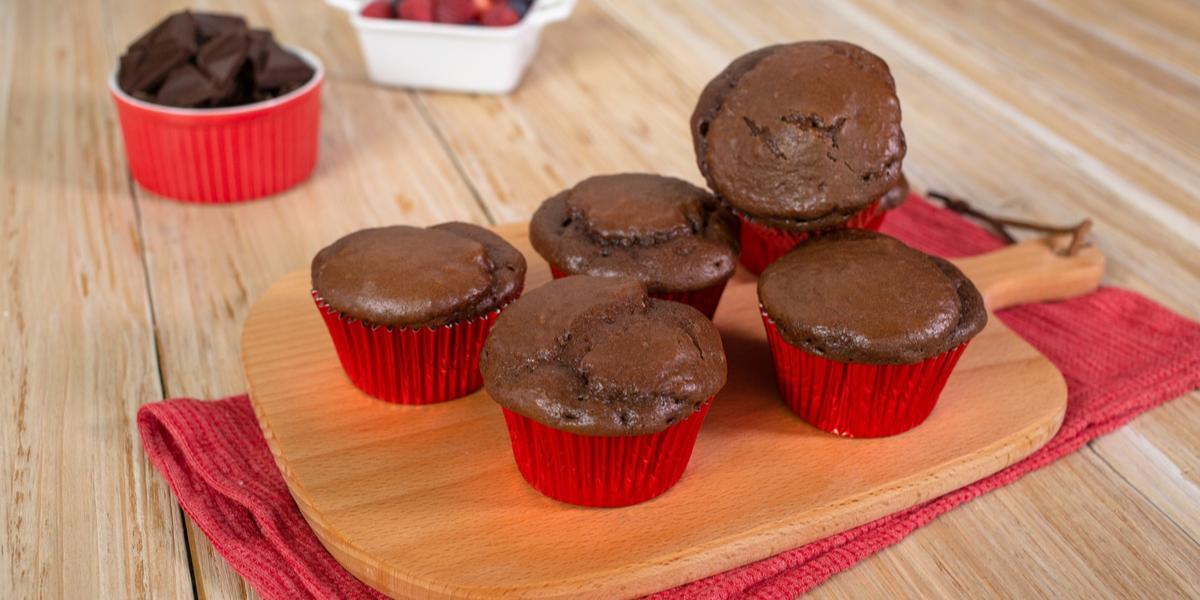 Muffins de chocolate amargo