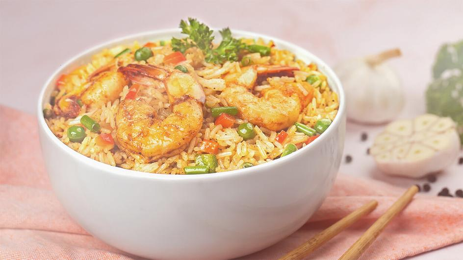 Mongolian Prawn Rice