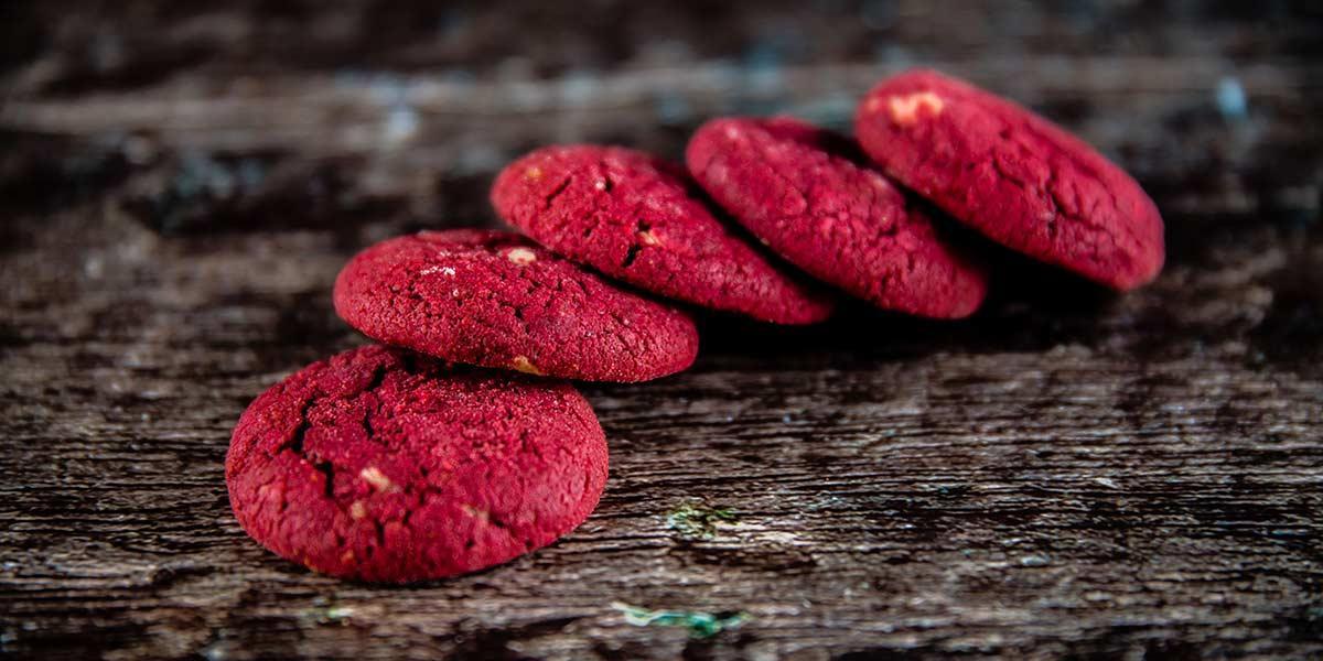 Receta fácil y rápida de galletas red velvet
