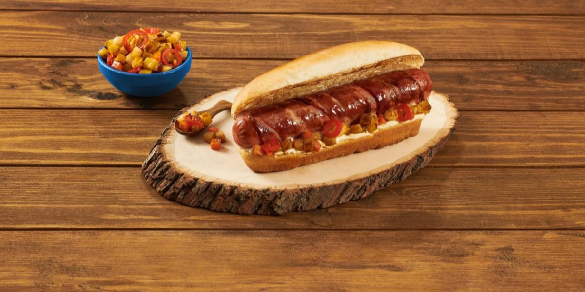 HOT DOG BBQ preparado con Jugo MAGGI® BBQ