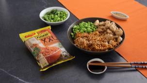 Ricetta Poke di pollo, noodles ed edamame
