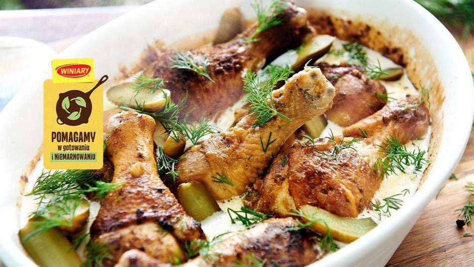Kurczak musztardowo-czosnkowy