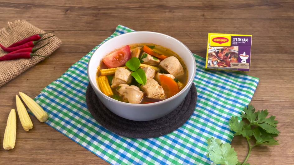 Fragrant Tomyam Chicken Soup Recipe