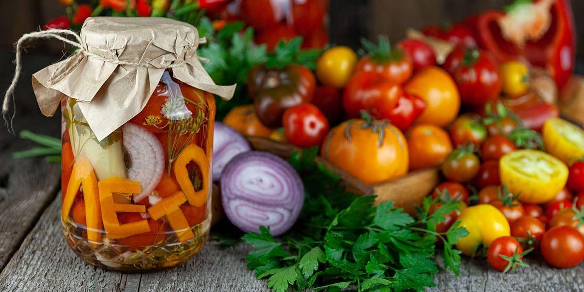 Receta fácil y rápida de conserva de vegetales