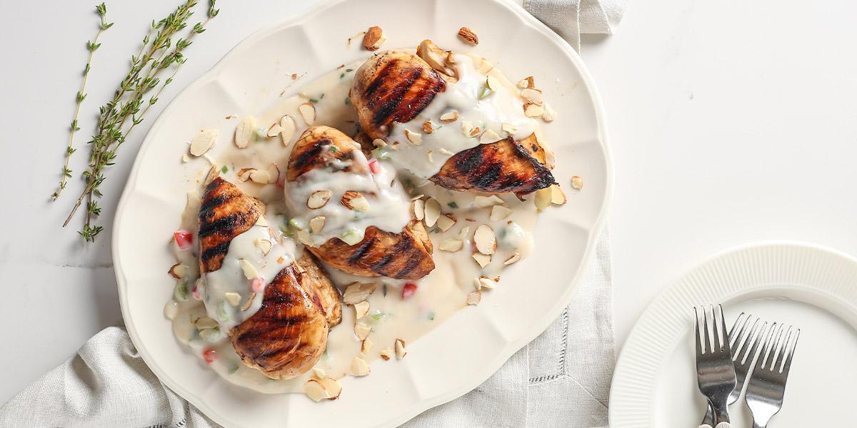 pechugas de pollo a la crema con nature´s heart® almendra