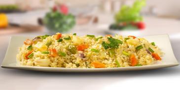 Chunky Vegetable Egg Fried Rice
