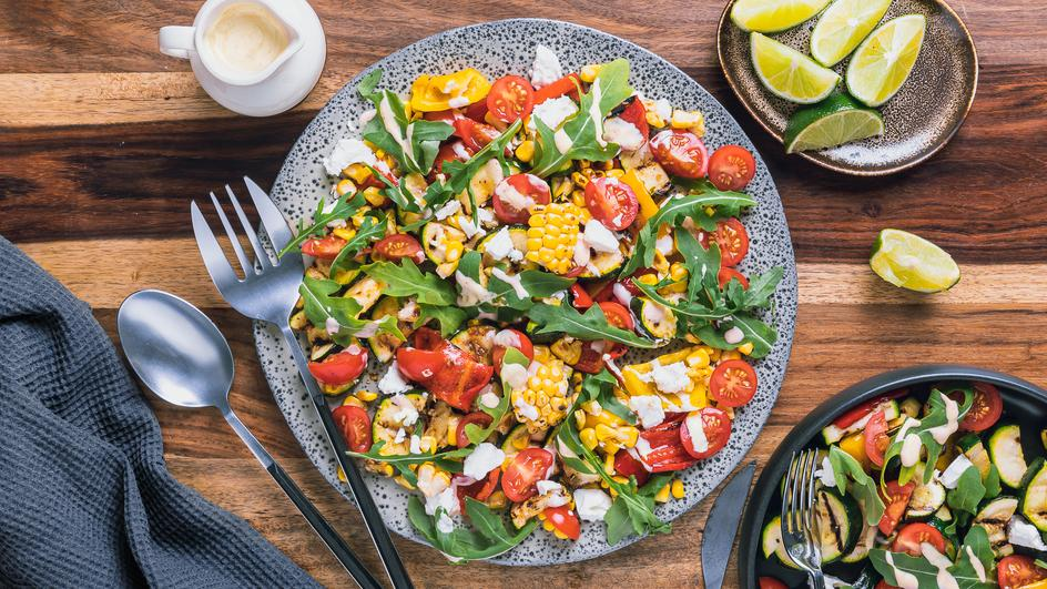 Mediterraner Grillgemüse-Salat