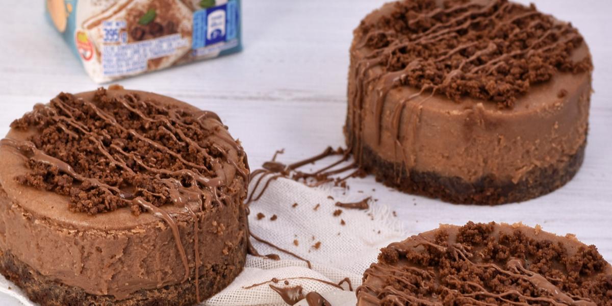 Mini torta Cheescake de chocolate by Maria Nazareth
