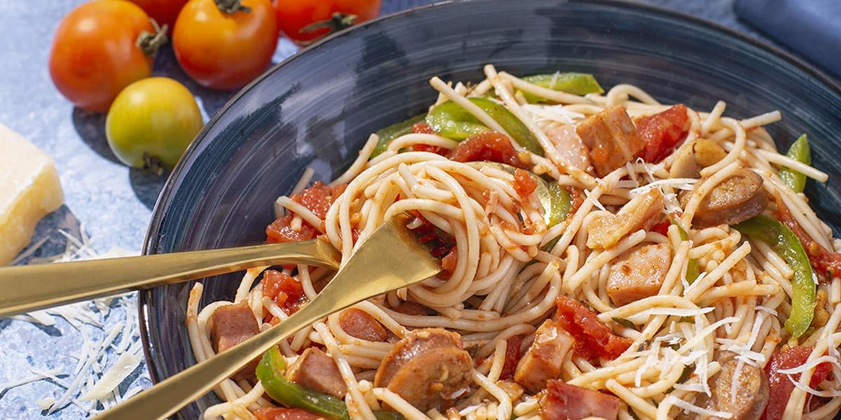 Espaguetis Mediterraneos