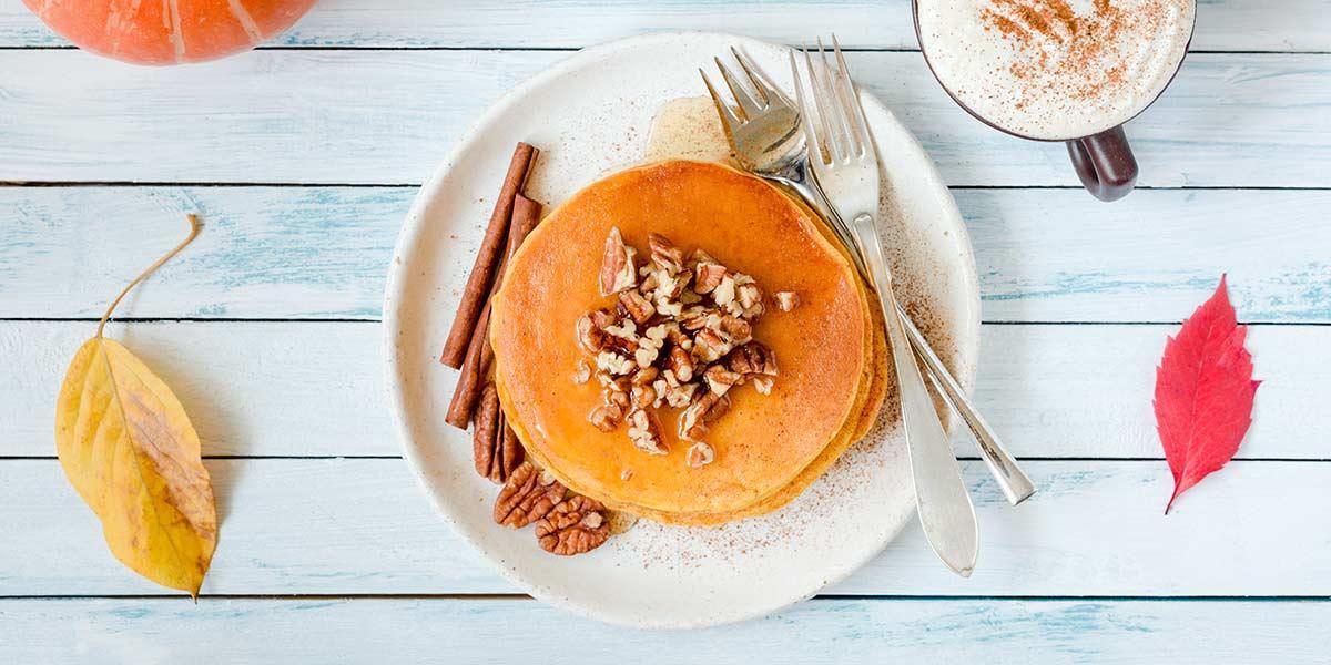 Receta fácil y rápida de pancakes de ahuyama