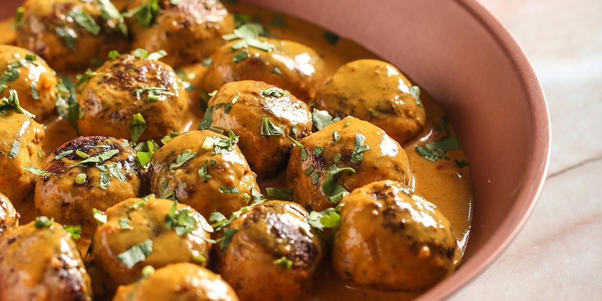 Albóndigas de Pollo con Curry y Cilantro