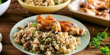 Ryż pilaf z pieczarkami