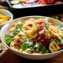 Sałata z kaszą jaglaną i grillowanymi warzywami sezonowanymi (majonez Winiary)