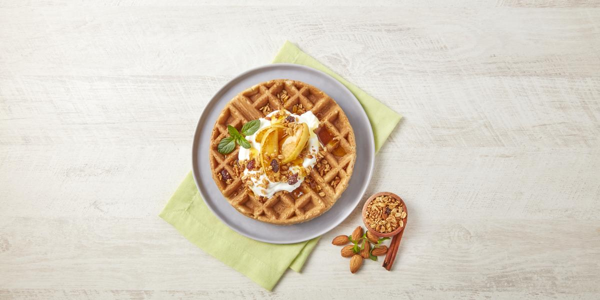 Waffle pay de manzana