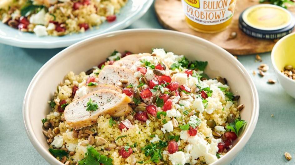 Tabbouleh – csirke, kuszkusz és gránátalma-saláta