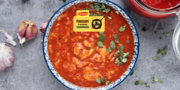 Zupa pomidorowa z passaty z lanymi kluskami
