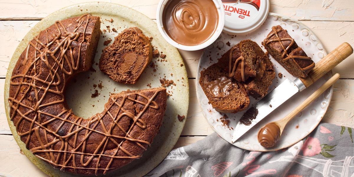 Queque de Chocolate con centro Untable