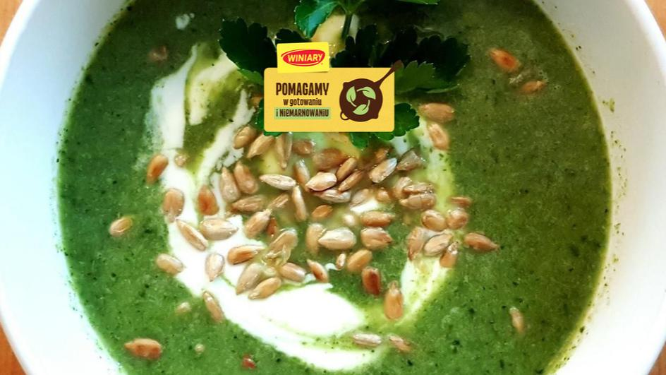 Zupa krem brokułowo-szpinakowy