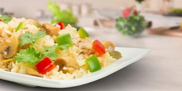 One Pot Chicken and Mushroom Rice