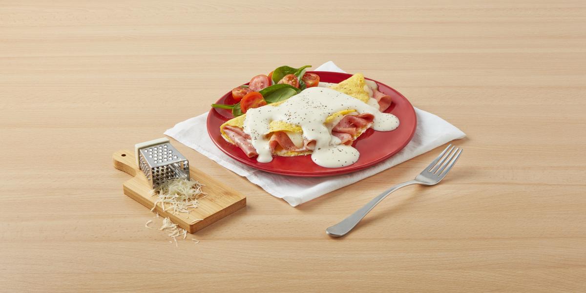 Omelette con salsa cremosa