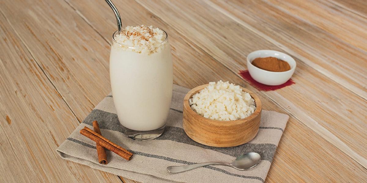 Frappé de arroz con leche