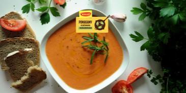 Salmorejo – hiszpański chłodnik zupa krem z pomidorów i chleba