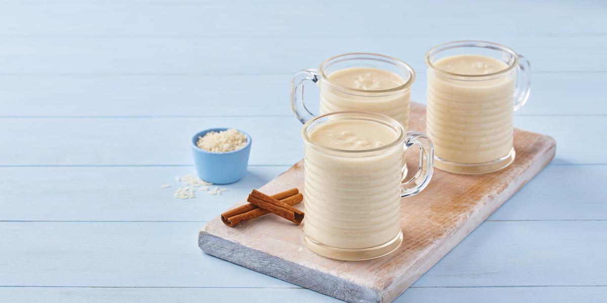 Atole de arroz con leche deslactosado