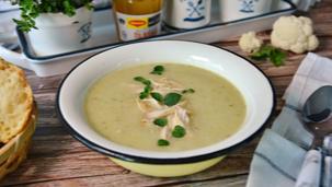 Крем супа с карфиол и пиле